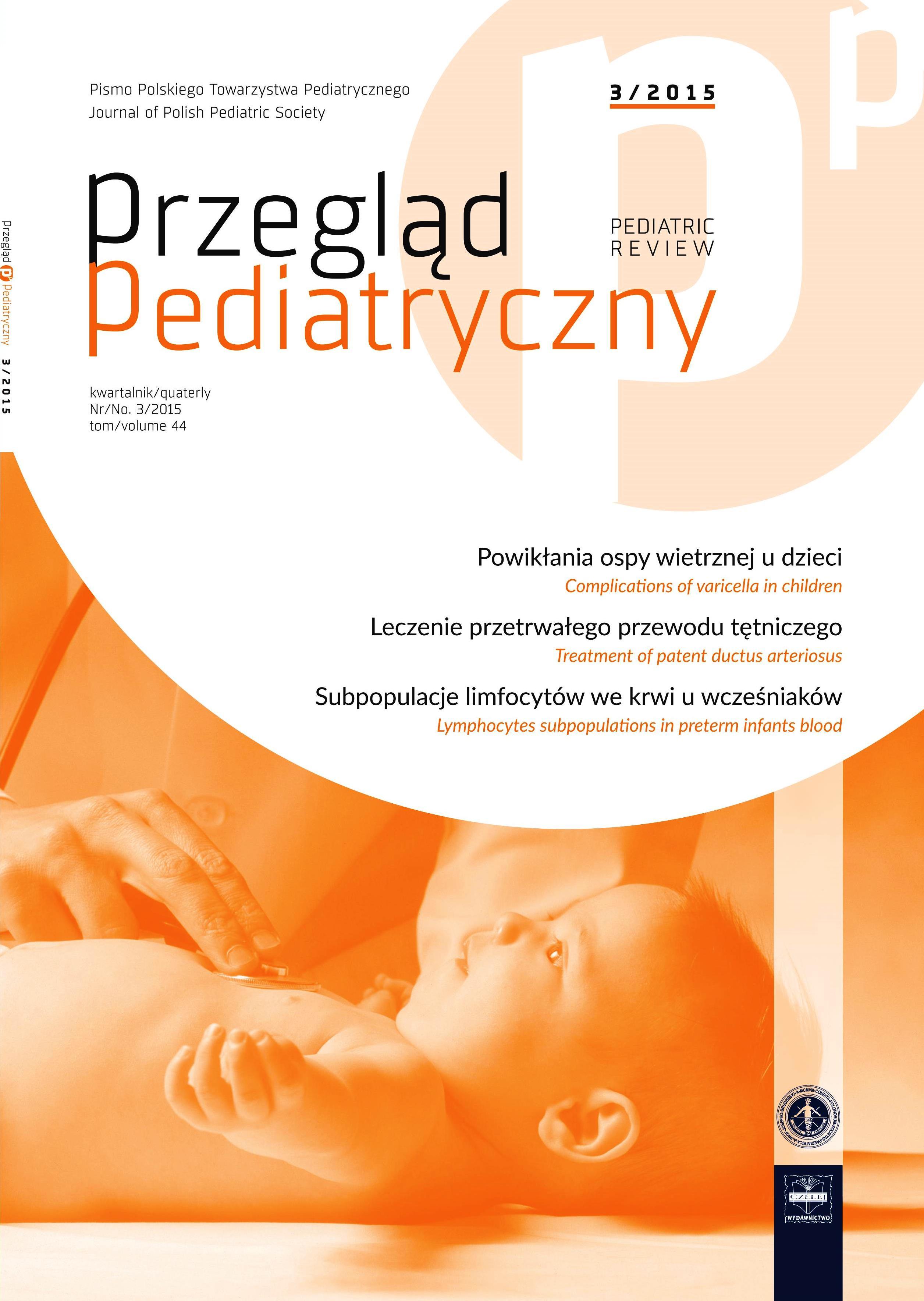 Przegląd Pediatryczny 3/2015